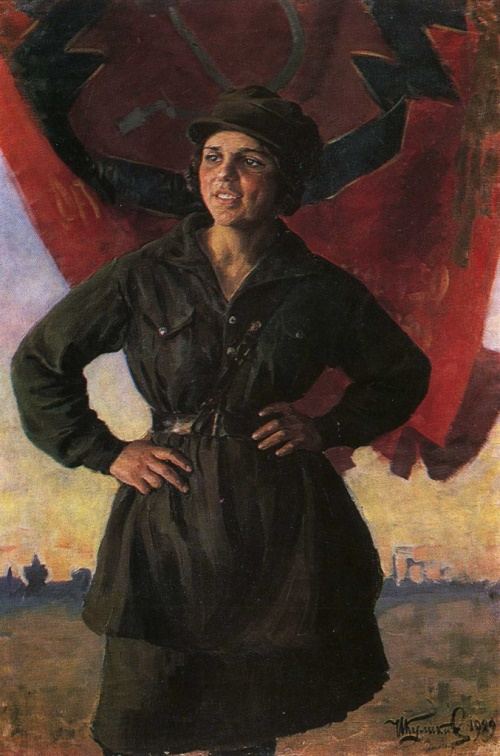 I. Kulikov. Revolutionary girl. 1929