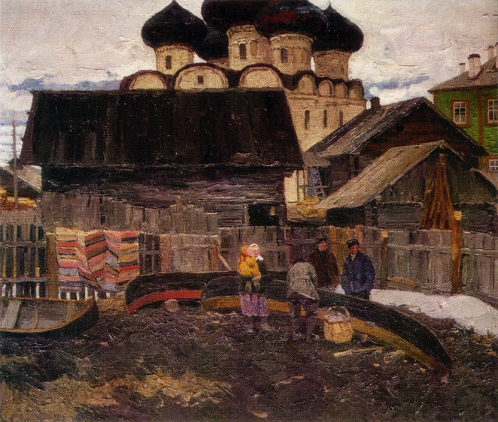 Kargopol. 1964. Oil, canvas
