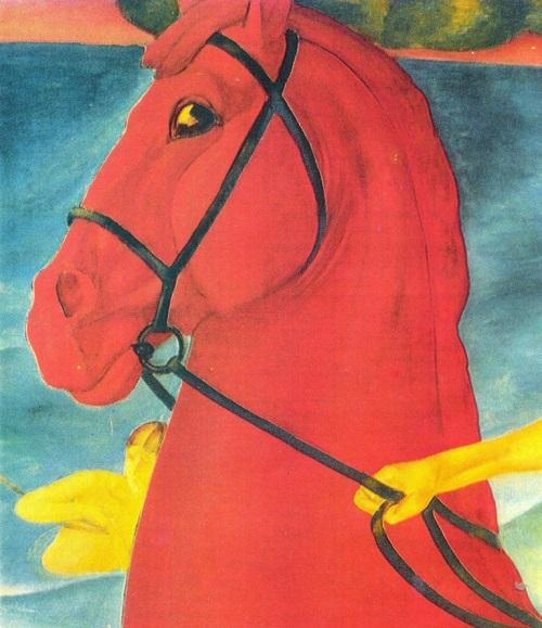 Kuzma Petrov-Vodkin. Bathing the Red Horse. Fragment. Oil. 1912. The State Tretyakov Gallery