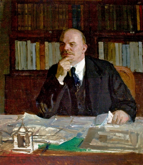 Soviet artist Vasily Nechitailo (1915 - 1980). Lenin in his office. 1956