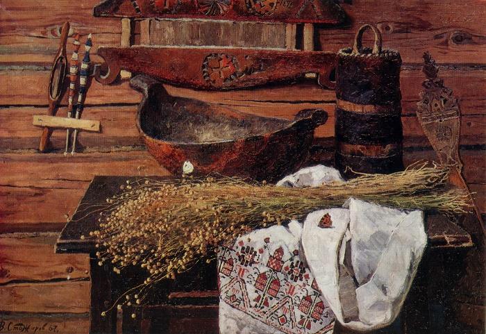 Linen. 1967. Oil on canvas. Tretyakov Gallery