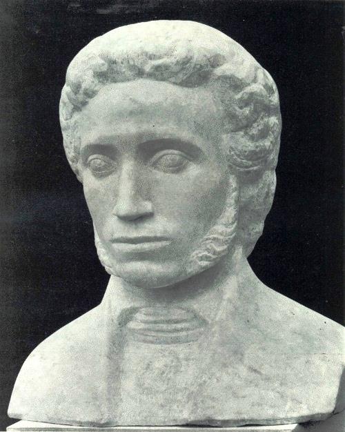 M. Smirnov (Moscow). Pushkin. 1981. Marble