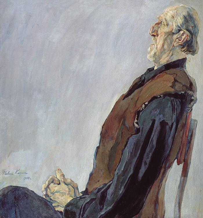 M.K. Kholmogorov, oil on canvas portrait. 1944, 106х100 см