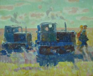 Awakened steppe. canvas, oil. 1954
