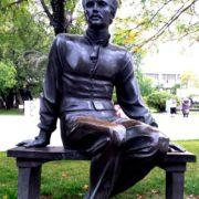 Mikhail Lermontov monument. Moscow. Sculptor Oleg Komov