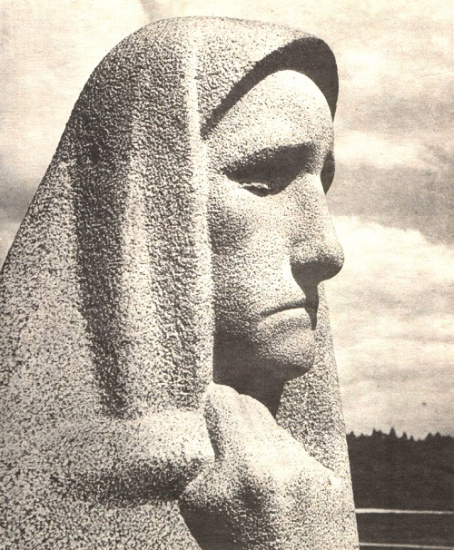 Monument to the victims of fascism, detail