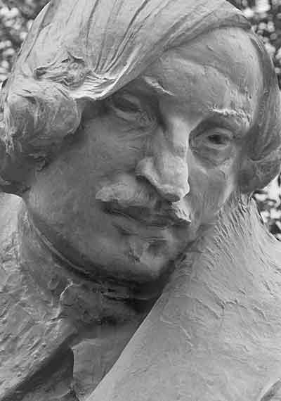 Nikolay Gogol. Detail of monument