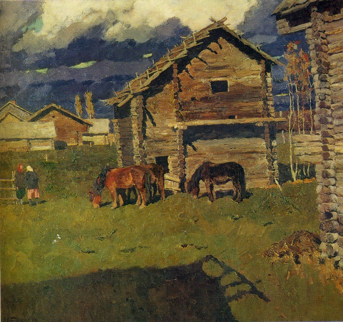 Pokrov. 1969. Oil on canvas. State Russian Museum
