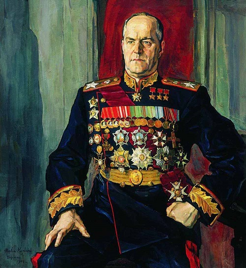 Soviet artist Pavel Korin. Portrait of Marshal Georgy Zhukov. 1945. Oil on canvas. State Tretyakov Gallery