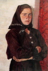 Portrait of Tatiana Igonina. 1959. The Nizhny Novgorod State Art Museum