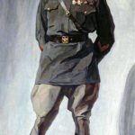 Portrait of a pilot MM Gromov. 1930. Canvas, oil. Samara Art Museum
