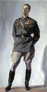 Portrait of a pilot MM Gromov. 1930. Canvas, oil. Samara Art Museum