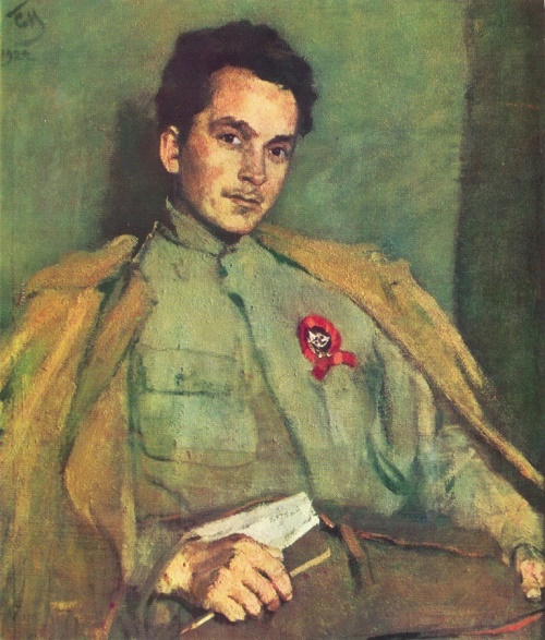 S. Malyutin. Portrait of DA Furmanov. Oil. 1922