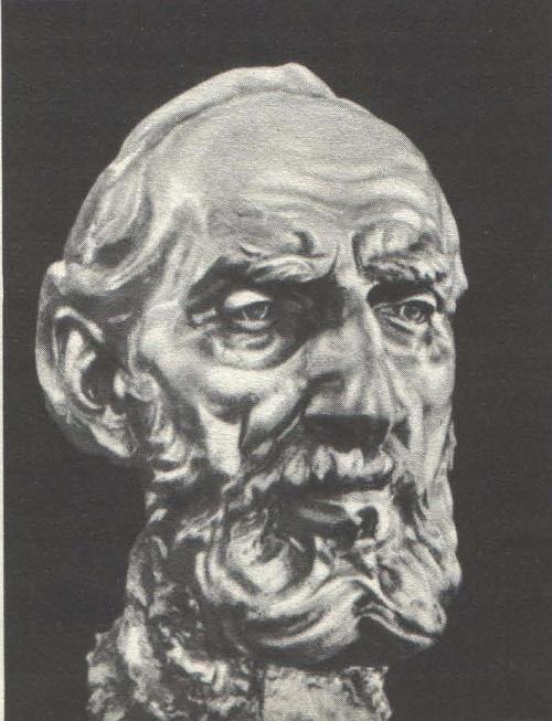 Portrait of MK Kholmogorov. Wrought copper. 1935