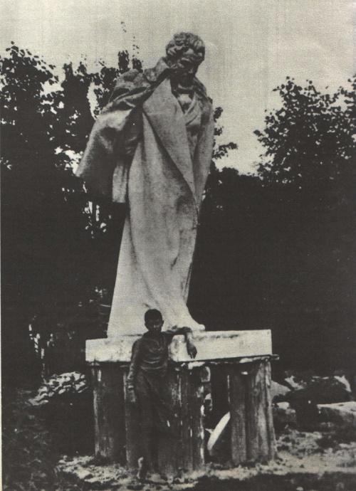 S. Merkurov. Statue of Alexander Pushkin. Gypsum. 1906-1937. Photo from the archives of GS Merkurov