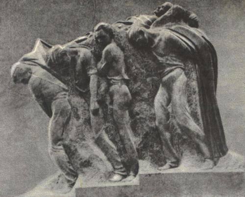 The funeral of the leader. Granite. 1927. House Museum of VI Lenin in Gorki