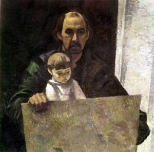 Self-portrait with granddaughter
