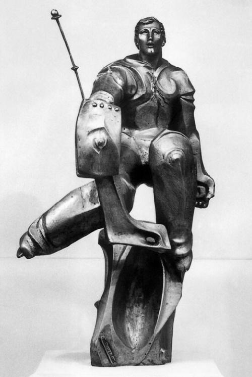 Soviet hockey player Tretiak. Aluminum. 1985