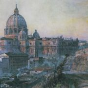 St. Peter's Cathedral in Rome. 1932