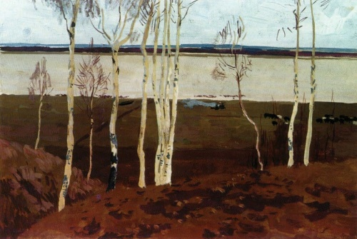 The Oka in the spring. 1958. The State Tretyakov Gallery