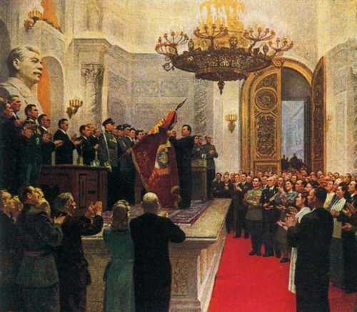 The advanced people of Moscow in Kremlin