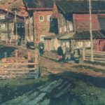 Shotovo Gora Village . Oil. 1964