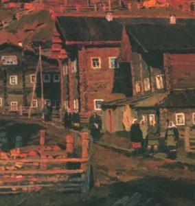 Shotovo Gora Village . Oil. 1964