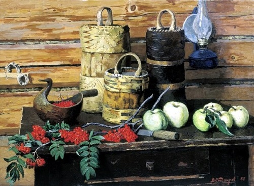 Still-life with rowan. Oil. 1967