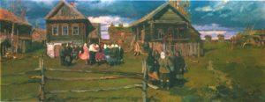 V. Stozharov. Village of Andreikovo. Oil. 1958
