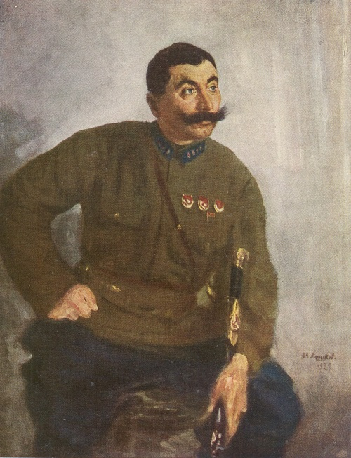 V.N. Meshkov. Portrait of S.M. Budenny, 1927