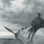 V.P. Chkalov on the island of Udd. Pastel, charcoal. 1941