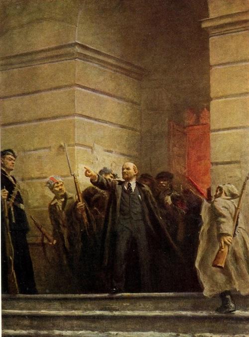 Soviet painter Victor Tsyplakov. (1915-1986), Lenin. 1947. Oil on canvas. The Central Lenin Museum