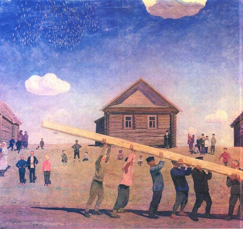 Valentin Sidorov. All together. Oil. 1970. State Russian Museum