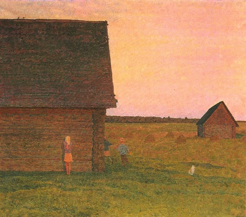 Valentin Sidorov. Hide-and-seek. Oil. 1975. The State Russian museum