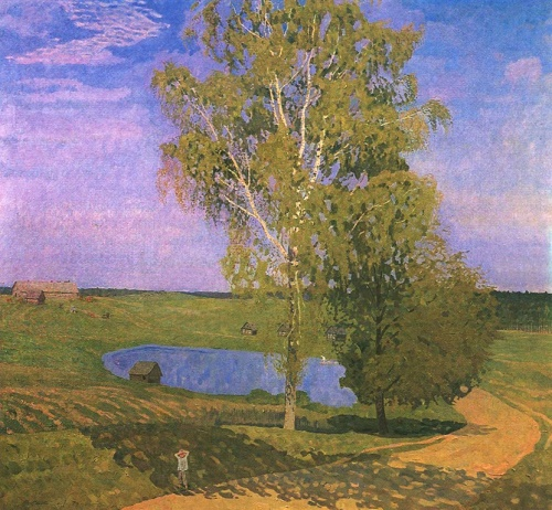 Valentin Sidorov. Morning on Podol. Oil. 1977. The State Russian museum