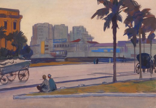 Cairo. Egypt. Oil. 1959
