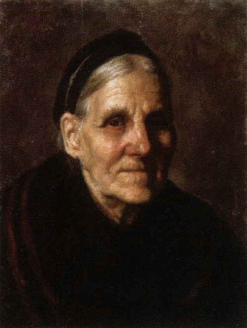 Viktor Ivanov. Portrait of grandmother Natalia. Oil. 1940