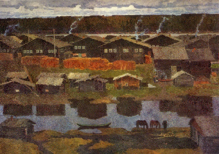 The Village of Serdla. 1969. Oil on canvas