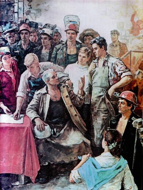 Soviet artist Vasily Hitrikov