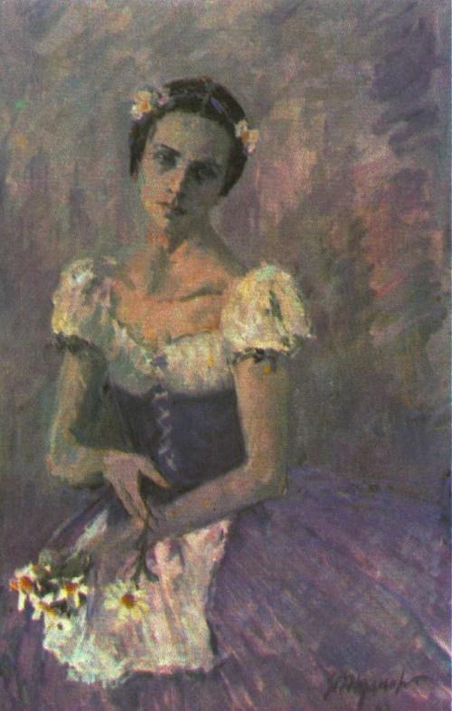 Yuri Zhdanov. Lyudmila Semenyaka as Giselle. Oil. 1988