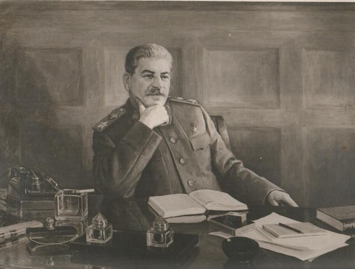 1948 portrait of Stalin. Boris Karpov (1896-1968)