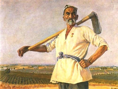 A. Abdullayev. Portrait of N. Niyazov. Oil. 1950
