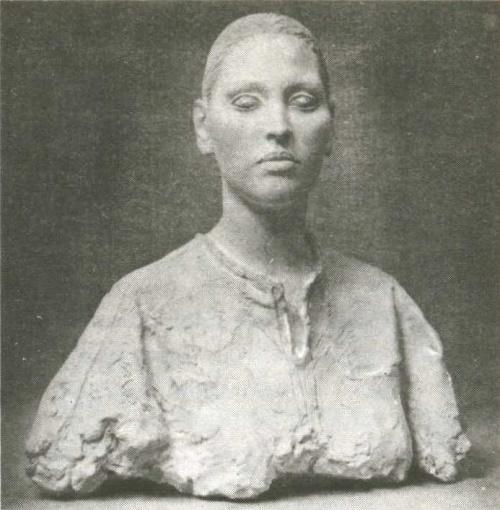 Soviet Russian sculptor Andrey Balashov. Portrait of Aguilyar. Gypsum. 1985