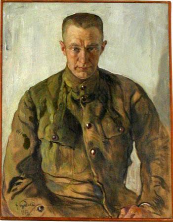 A.F. Kerensky. 1917. Oil on canvas