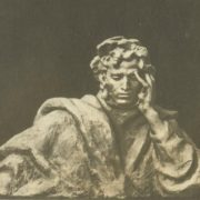 A.S. Pushkin. 1964. Gypsum. Museum of Pushkin in Moscow