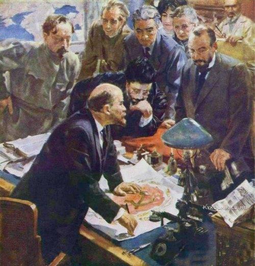 Soviet artist Igor Radoman (1921 - 1992). Adoption of the emblem of the RSFSR, 1960