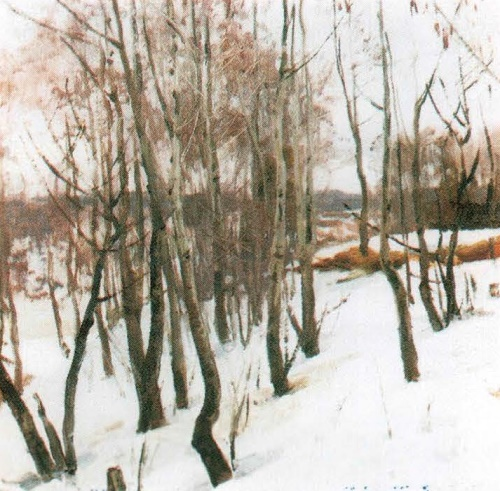 Soviet landscape painter Aleksei Gritsai