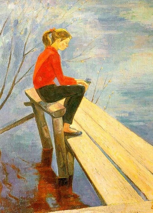 April. Soviet Russian artist Ekaterina Chernysheva