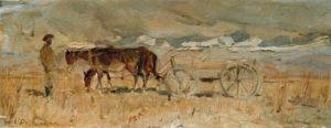 Soviet realist painter Nikolai Romadin