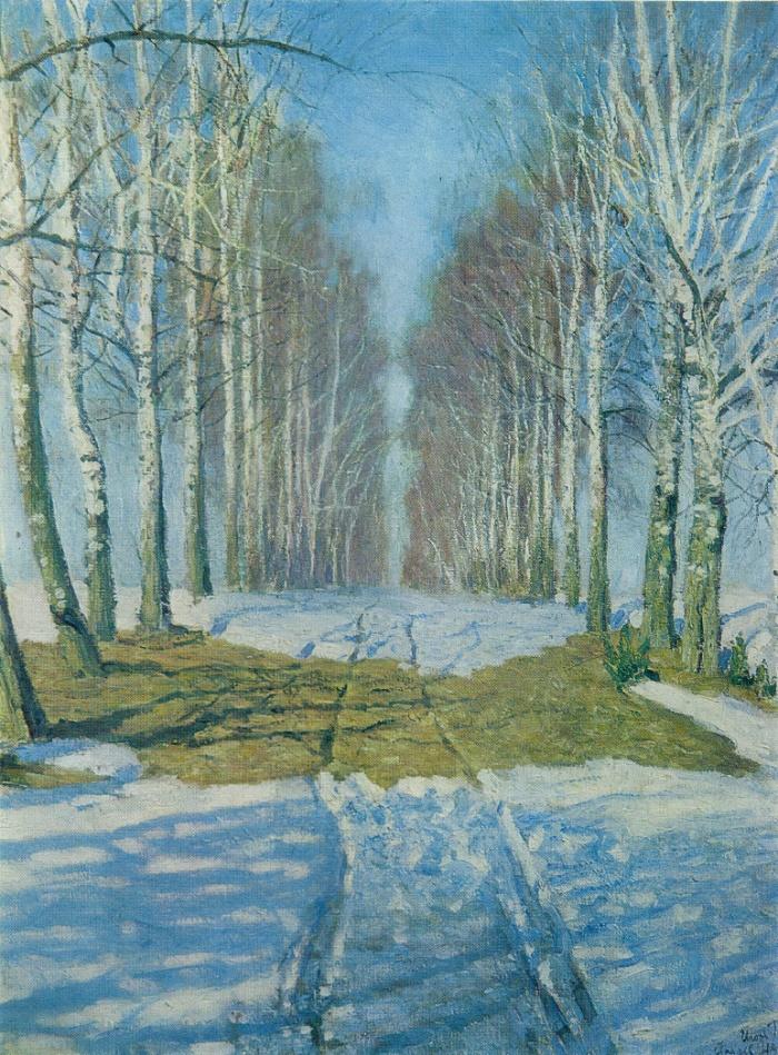 Birch alley. 1940